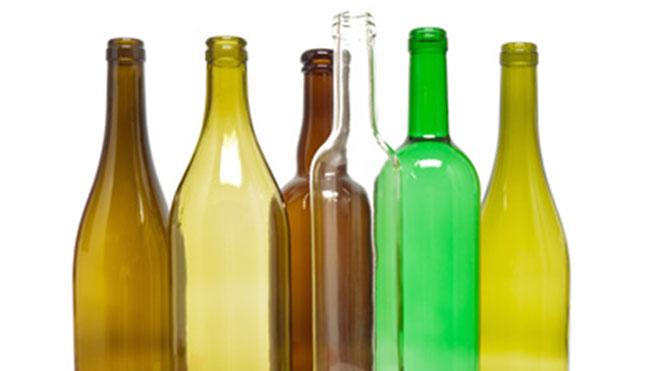 Flaschen Glasabfall